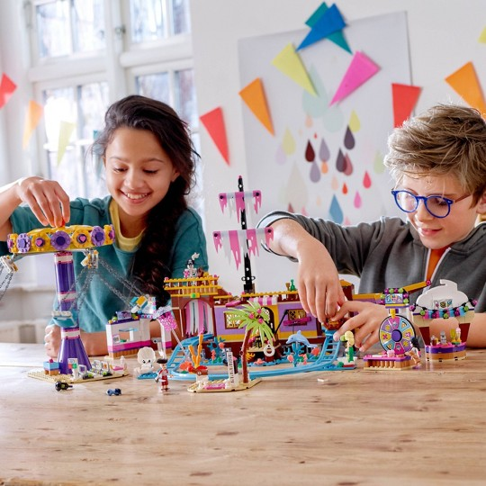LEGO Friends Heartlake City Amusement Park with Toy Rollercoaster Building Set with Mini Dolls 41375 image number null