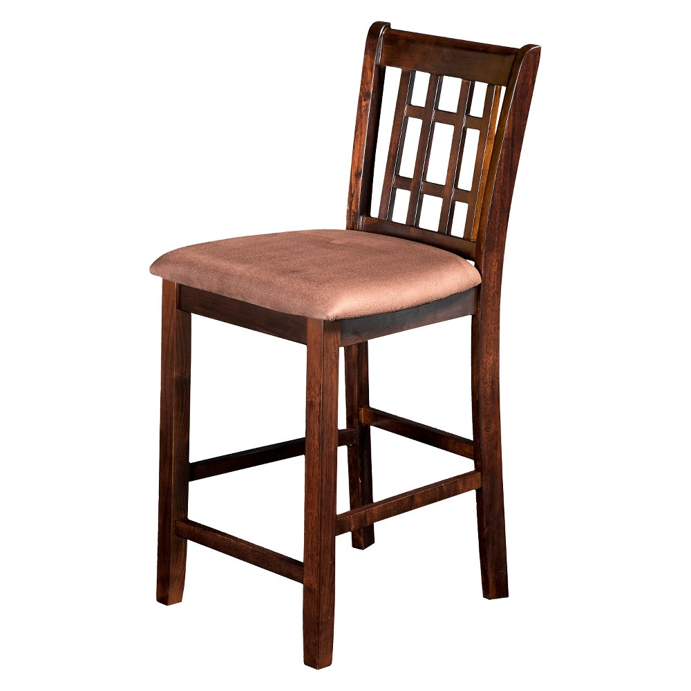 ioHomes Open Gridded Back Counter Side Chair Wood/Espresso (Set of 2)