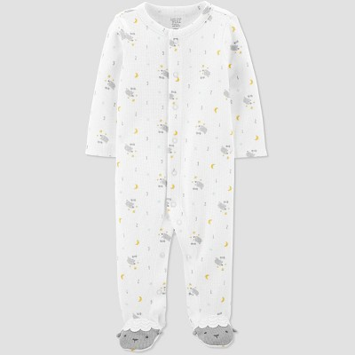 Baby Sheep All Over Print 1pc Pajama - Just One You® made by carter's White 3M