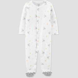 Baby Sheep All Over Print 1pc Pajama - Just One You® made by carter's White