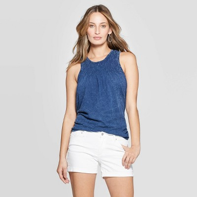1632acbd94e15 Women s Crewneck Smocked Tank Top - Universal Thread™