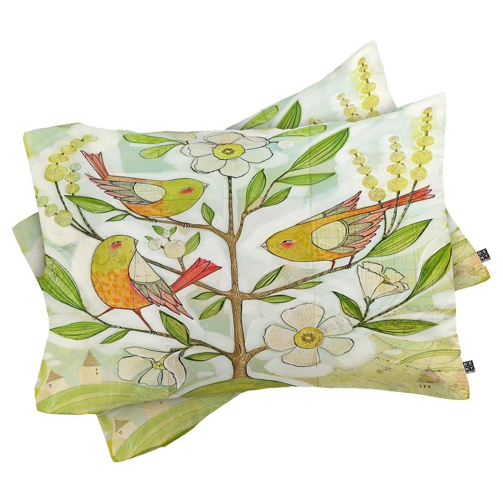Cori Dantini Community Tree Lightweight Pillowcase Standard Green - Deny Designs