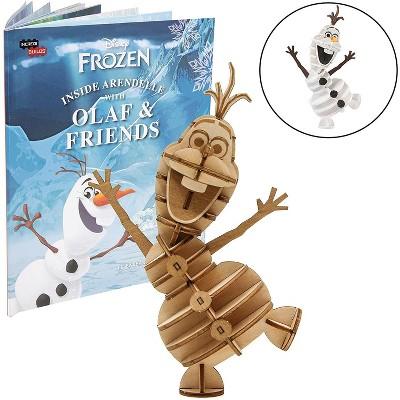 Incredibuilds Disney Frozer Olaf Book & Wood Model Figure Kit