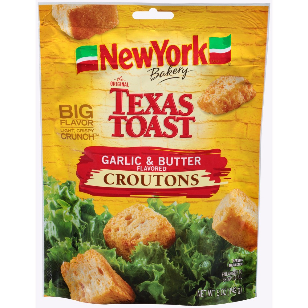 New York Texas Toast Garlic and Butter Flavored Croutons - 5oz