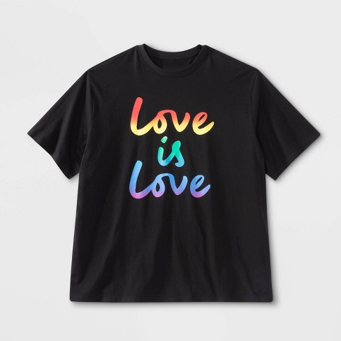Pride Gender Inclusive Adult Love is Love Graphic T-Shirt - Black - image 1 of 1