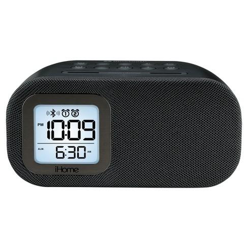 iHome Bluetooth Bedside Dual Alarm Clock - Black - image 1 of 2