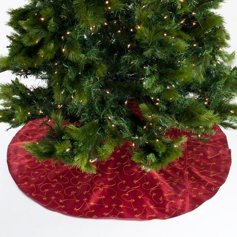 Saro Lifestyle Embroidered Design Christmas Tree Skirt - image 1 of 4
