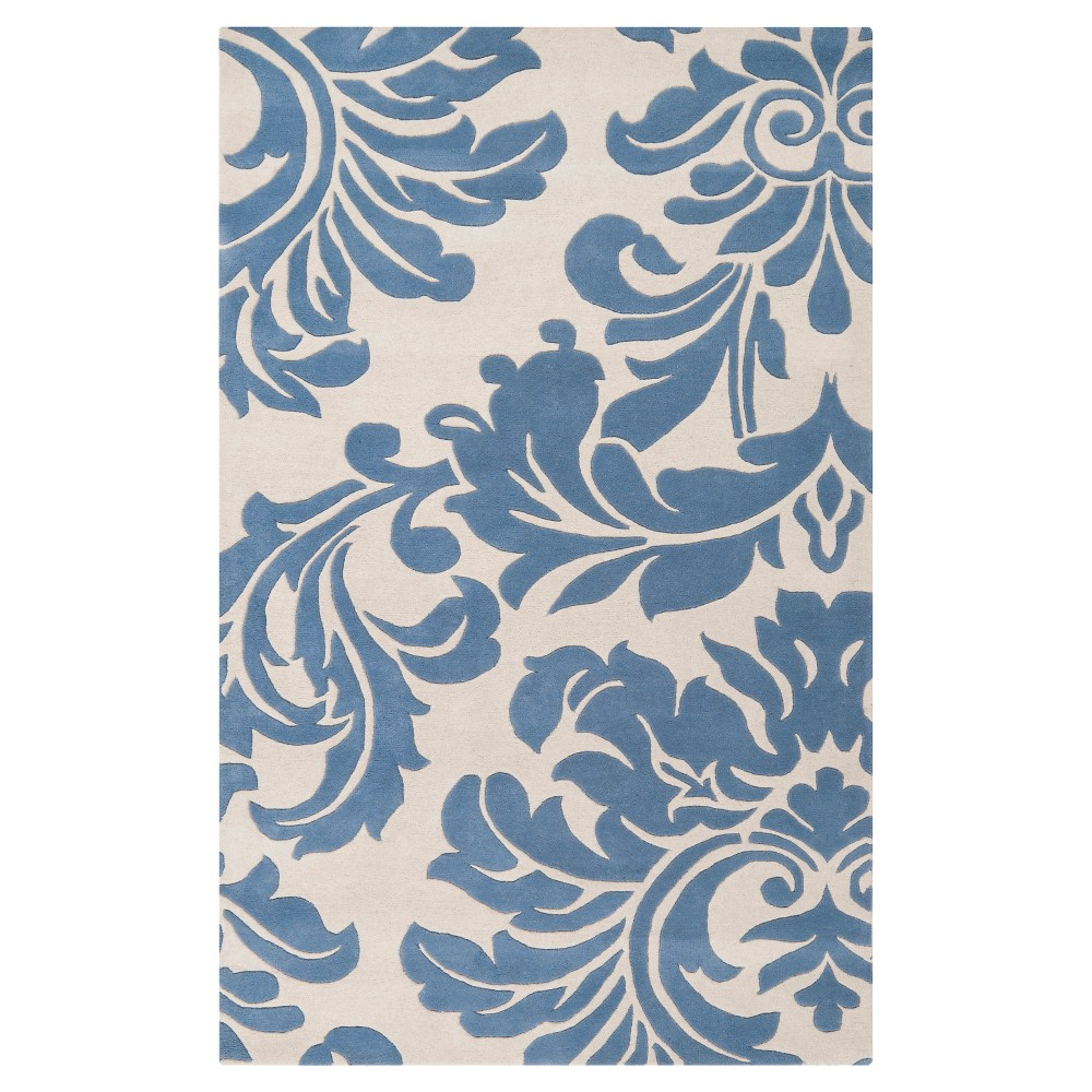Vlore Area Rug - Denim, Cream - (12' x 15') - Surya, Black Denim