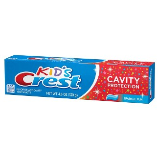 Crest Kid's Cavity Protection Sparkle Fun Flavor Toothpaste : Target