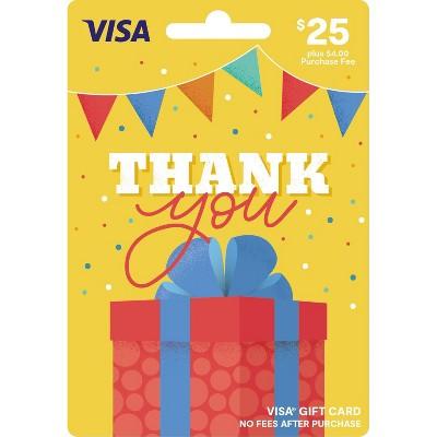 Visa Thank You Gift Card - $25 + $4 Fee