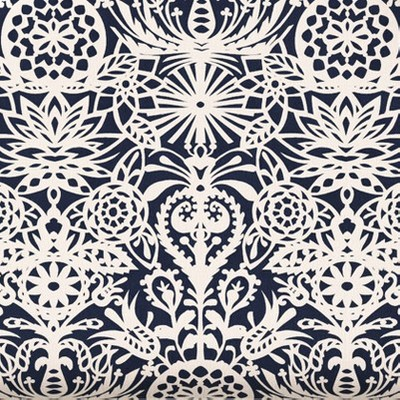 Navy & White Floral
