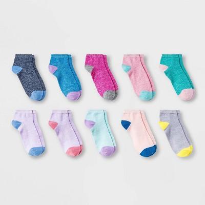 Girls' 10pk Lightweight Ankle Socks - Cat & Jack™