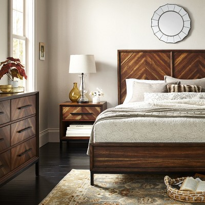 Traditional Bedroom & Bedding Collection with Wood & Neutral Tones
