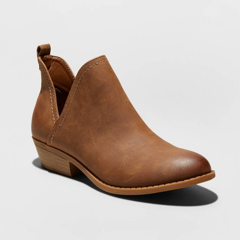 Women's Nora Faux Leather Cut Out Ankle Bootie - Universal Thread™ - image 1 of 3