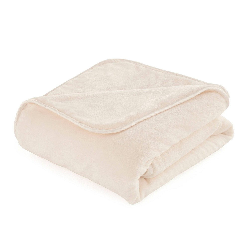 54 34 X72 34 25lbs Plush Weighted Blanket Ivory Vellux