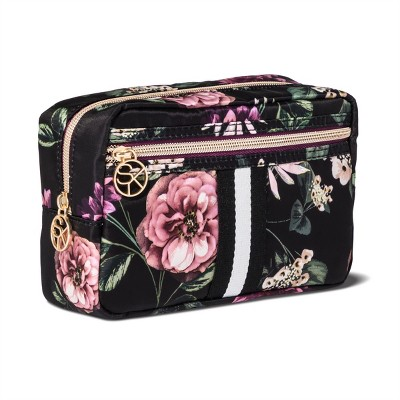 Sonia Kashuk™ Cosmetic Bag Overnighter Dark Floral with Webbing