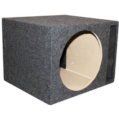 """QPower QSBASS12 Single 12"""" Vented Slot Ported Subwoofer Sub Enclosure Box"""