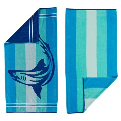 Great Bay Home 2 PackPlush JacquardBeach Towels