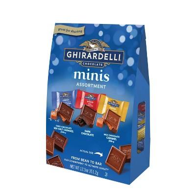 Ghirardelli Minis Assorted Chocolate Squares XL Bag - 12.3oz