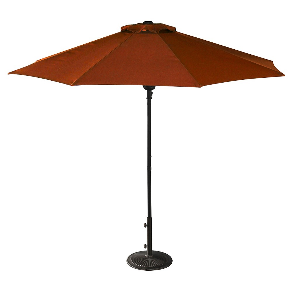 Image of 9' Island Umbrella Cabo Market Umbrella in Terracotta Olefin