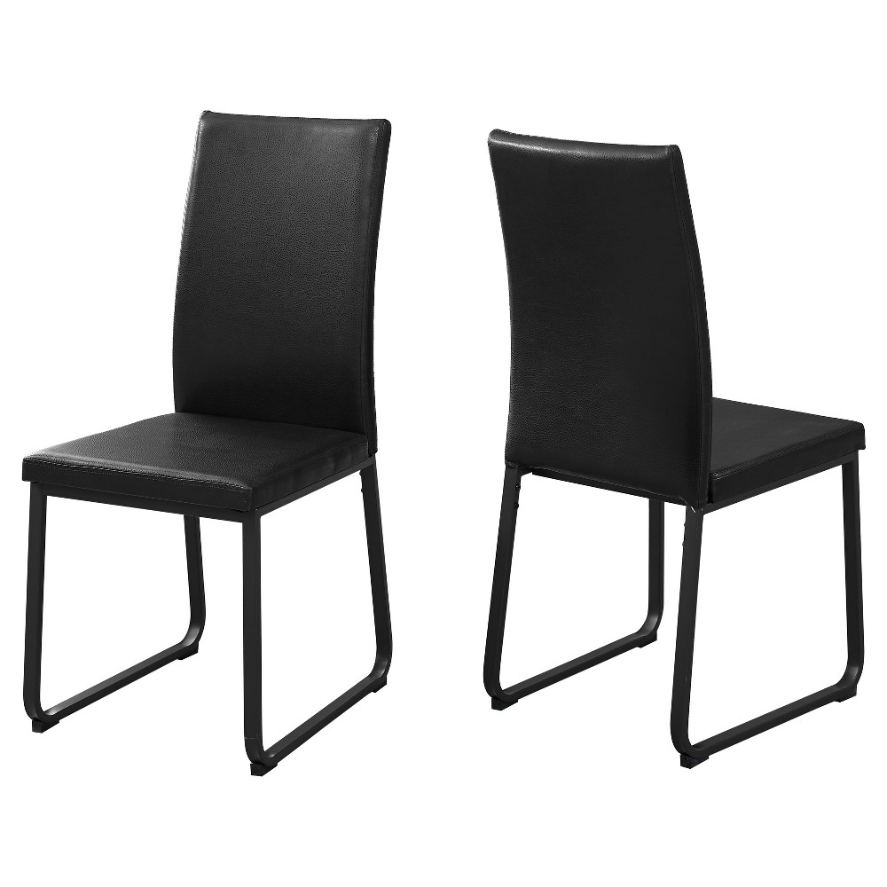 Swell Dining Chair 2 Piece Black Leather Everyroom Gmtry Best Dining Table And Chair Ideas Images Gmtryco