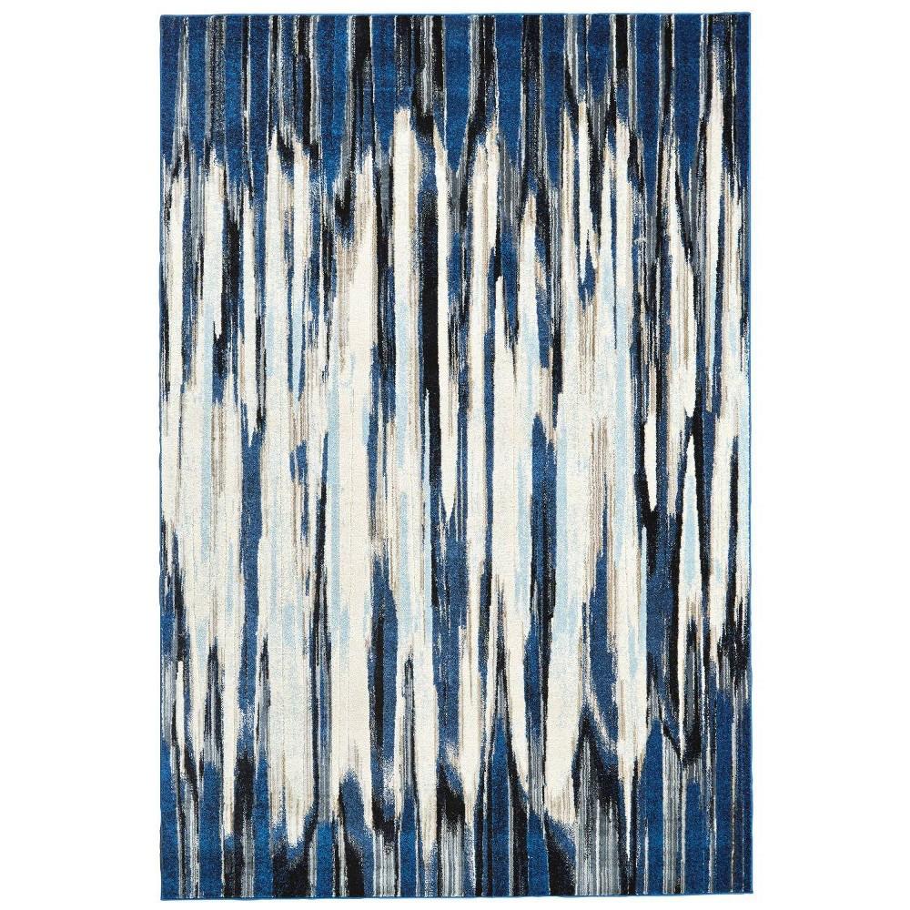 Image of 10'X14' Multi Stripe Loomed Area Rugs Indigo - Weave & Wander