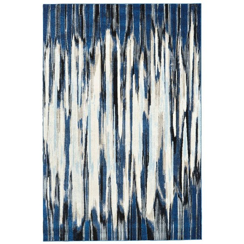 Indigo Abstract Loomed Accent Rug Weave & Wander - image 1 of 3