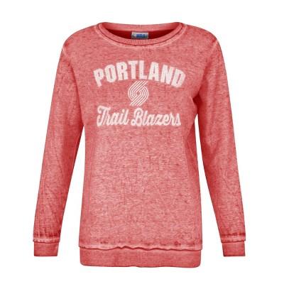 NBA Portland Trail Blazers Women's Distressed Classic Sweatshirt