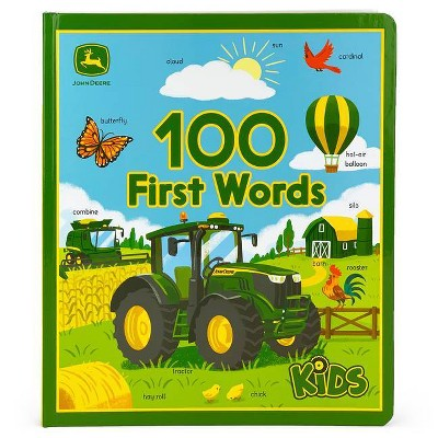 100 First Words - (John Deere 100 Firsts Children's Interactive Board Book)by Jack Redwing (Board Book)