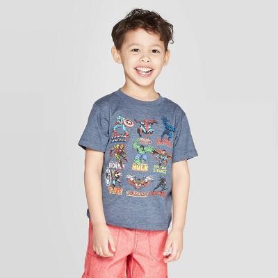 Boys' Marvel Avengers Short Sleeve T-Shirt - Blue 2T