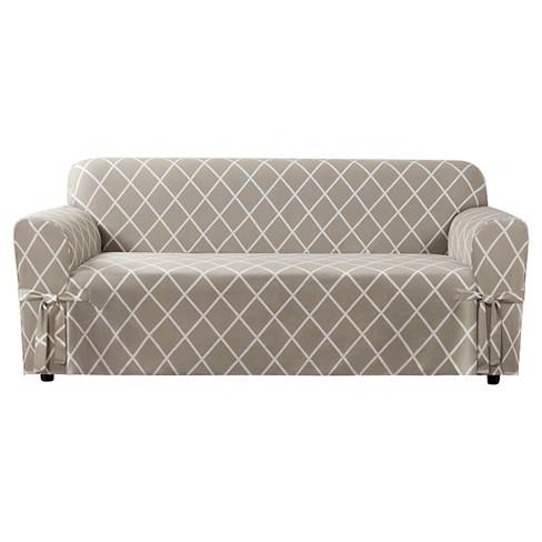 Lattice Sofa Slipcover Sure Fit Target