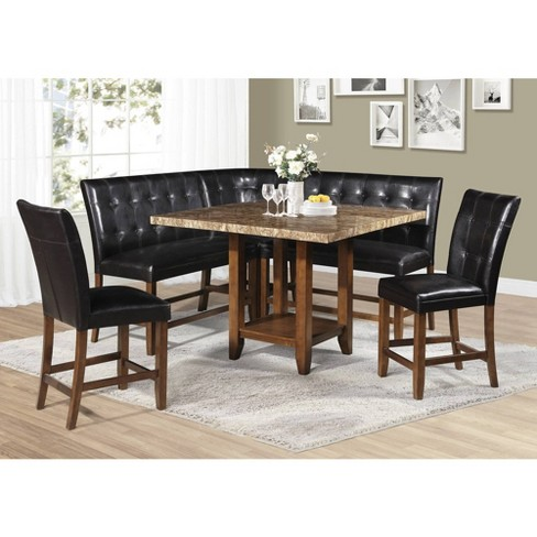 6pc Cavett Counter Height Dining Set Cherry - Steve Silver - image 1 of 10