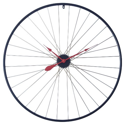 Tandem Wheel Wall Clock Navy/Red - Infinity Instruments® - image 1 of 2