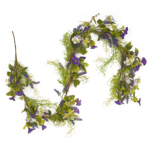 "Green and Purple Garland (72"") - image 1 of 1"