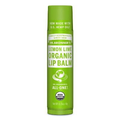 Dr. Bronner's Organic Lip Balm - Lemon Lime - 0.15oz