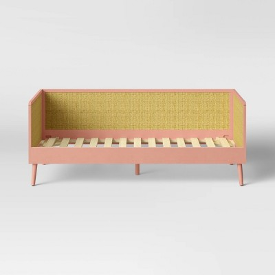 Twin Rattan & Wood Daybed Pink - Pillowfort™