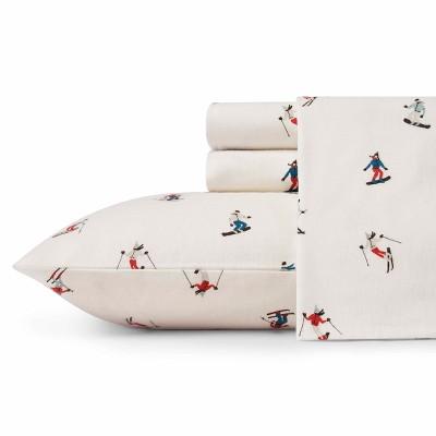 Queen Flannel Sheet Set Ski Slope - Eddie Bauer