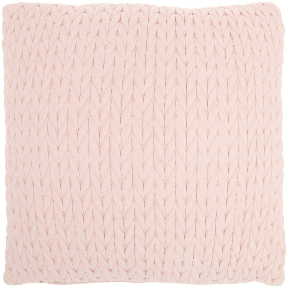 18 34 X18 34 Life Styles Quilted Chevron Square Throw Pillow Pink Nourison
