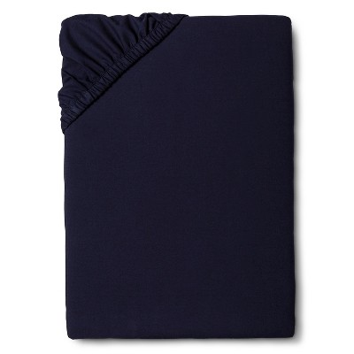 Queen 300 Thread Count Ultra Soft Fitted Sheet Navy - Threshold™
