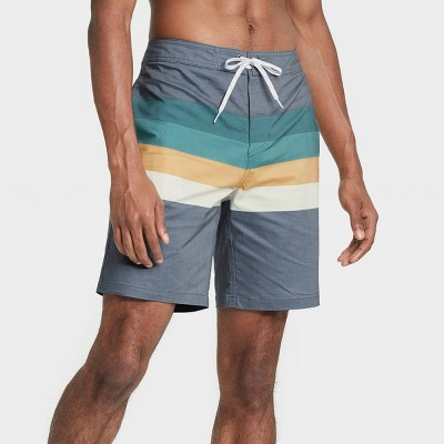 "Men's 8.5"" Striped Swim Trunks - Goodfellow & Co™ Indigo"