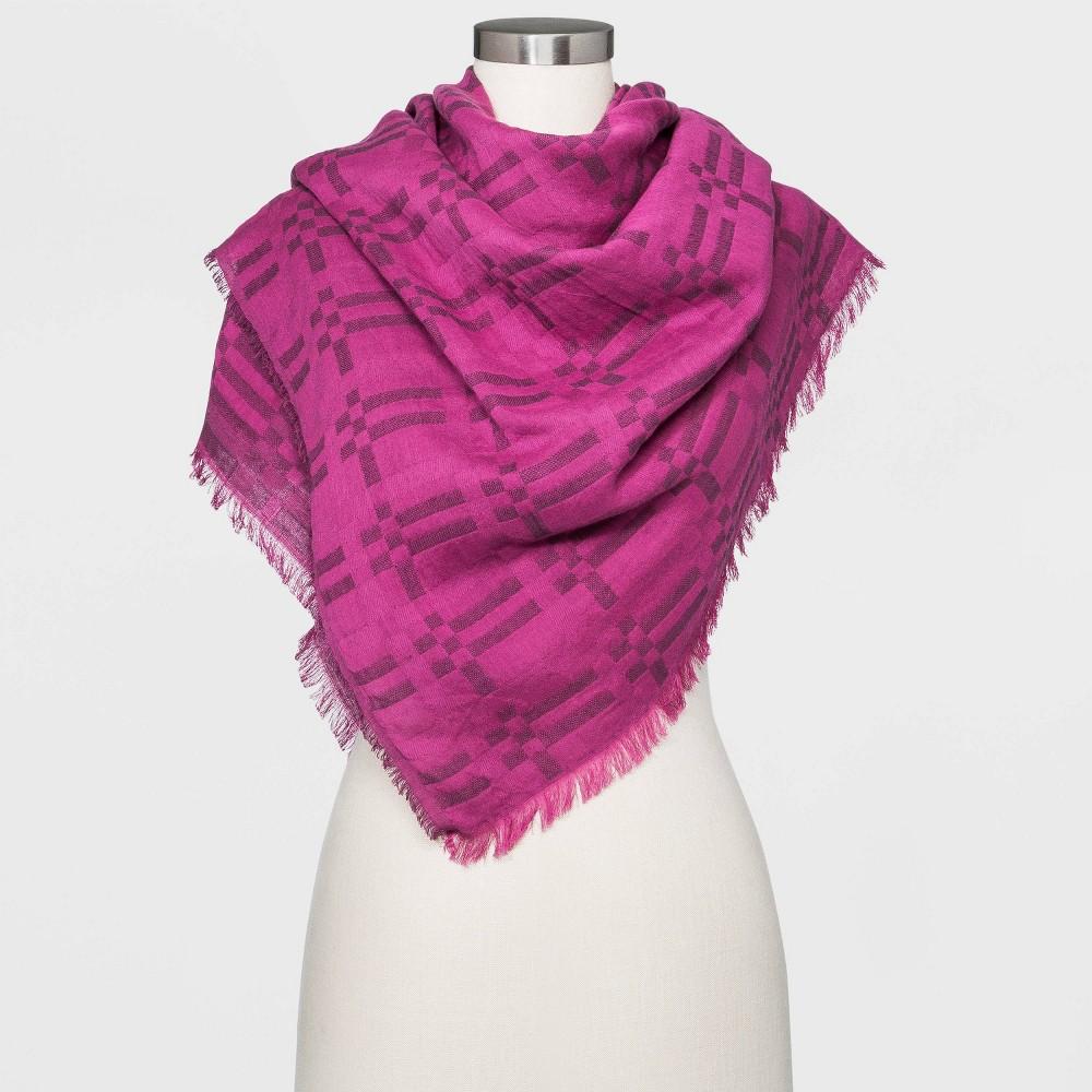 Compare Women' Plaid Overized Double Weave quare carf - Univeral Thread™