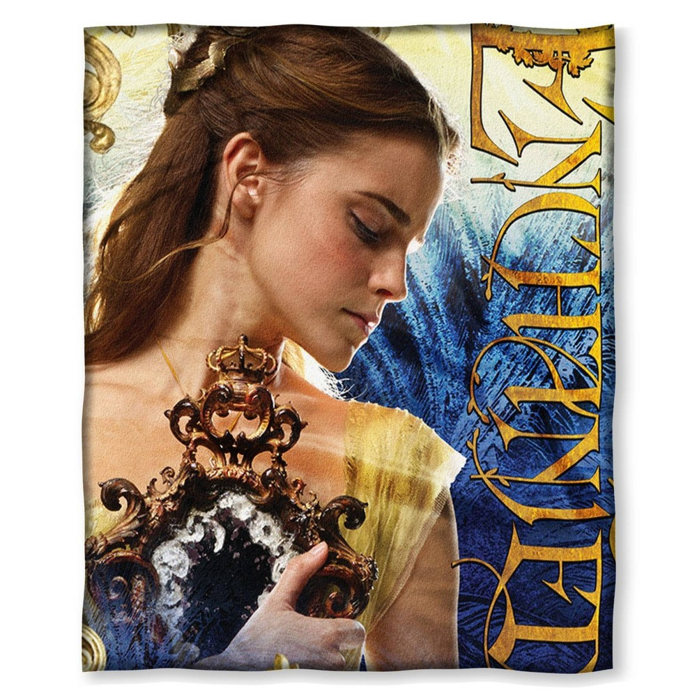Image of Beauty and the Beast Enchanted Silk Touch Throw
