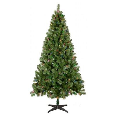 6ft Prelit Artificial Christmas Tree Alberta Spruce Multicolored Lights - Wondershop™