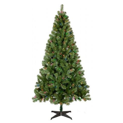 6ft Prelit Artificial Christmas Tree Alberta Spruce Multicolored ...