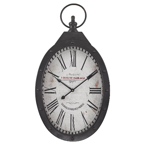 "Aged Iron 27"" Pocket Watch Wall Clock - Lazy Susan® - image 1 of 2"