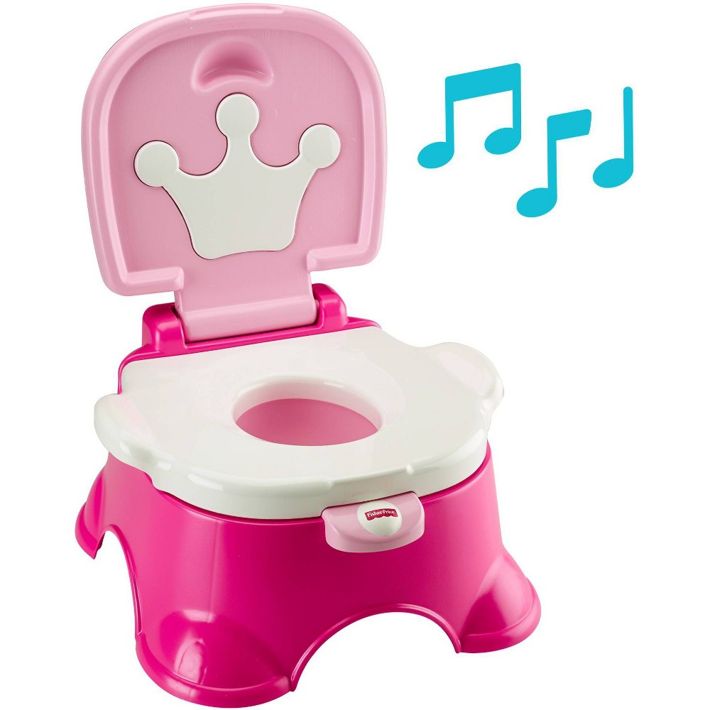 Image of Fisher-Price Stepstool Potty - Pink, White