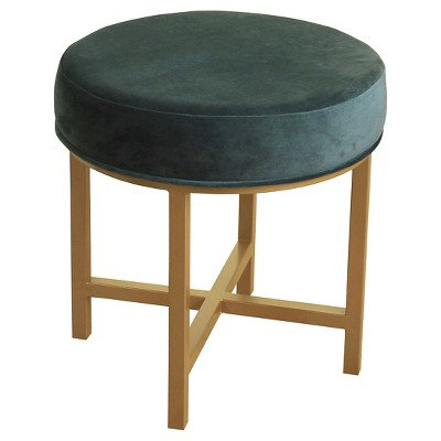 Enjoyable Circle Ottoman With Gold Metal X Base Homepop Creativecarmelina Interior Chair Design Creativecarmelinacom
