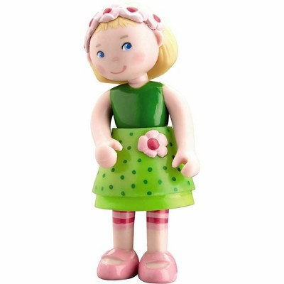 "HABA Little Friends Mali - 4"" Dollhouse Toy Figure with Blonde Hair & Headband"