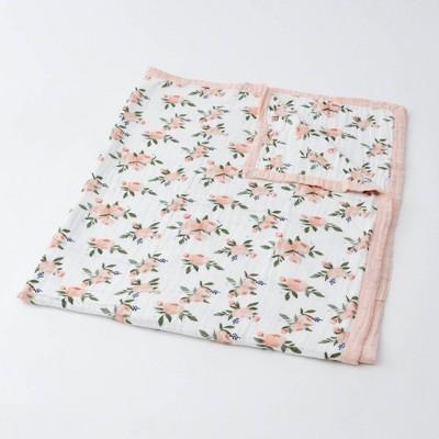 Little Unicorn Cotton Muslin Quilt - Watercolor Roses XL