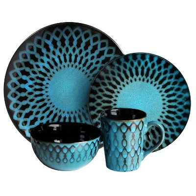 American Atelier® Stoneware 16pc Dinnerware Set Blue